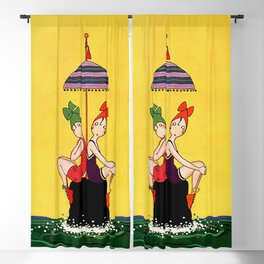"""""""Bathing Beauties"""" by Annie Fish Blackout Curtain"""