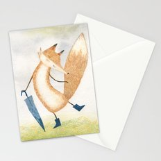 It stopped raining, Mr Fox Stationery Cards