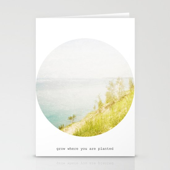 Grow Where You Are Planted Stationery Cards