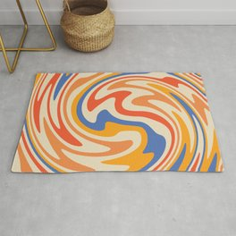 70s Retro Swirl Color Abstract 2 Rug