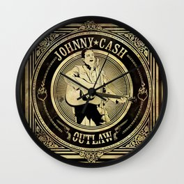 Johnny Cash Outlaw Wall Clock