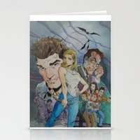 buffy Stationery Cards featuring Buffy and the vampire by PaulysVoice