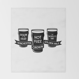 The Winchester, The Crown & The Golden Mile Throw Blanket