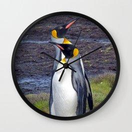 King Penguins Wall Clock