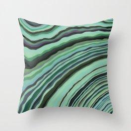 Mineralicious~Mint Tourmaline Throw Pillow
