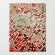 Razzle Red Mosaic Canvas Print