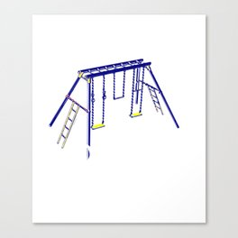 Naughty Mood Swings Fuck Off Swing Set Canvas Print