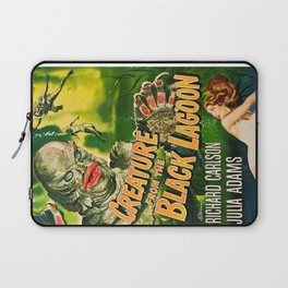 Creature from the Black Lagoon, vintage horror movie poster Laptop Sleeve