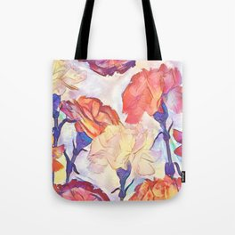 Painted Carnations Tote Bag
