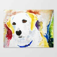 lab Canvas Prints featuring Lab by Bowles Fine Paintings