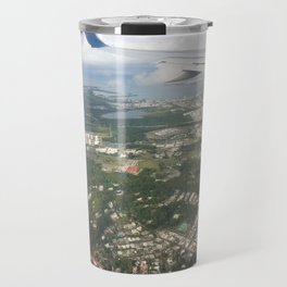 Puerto Rico birds eye view before Maria Travel Mug