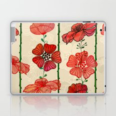 Hanging Poppy Garland Laptop & iPad Skin