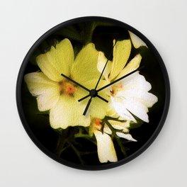 White Mallow Wall Clock