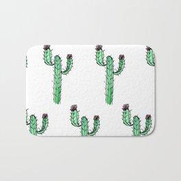 Cactus Flower II Pattern Bath Mat
