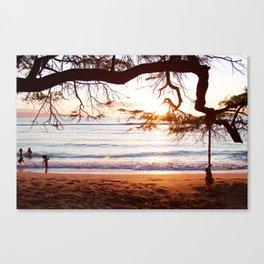 maui secret beach Canvas Print