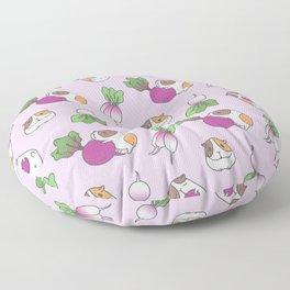 Guinea Pig and Radish Pattern Floor Pillow