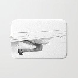 Black and white airplane Bath Mat