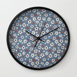 Floral Fabric Wall Clock