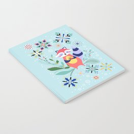 Happy Raccoon Card Notebook