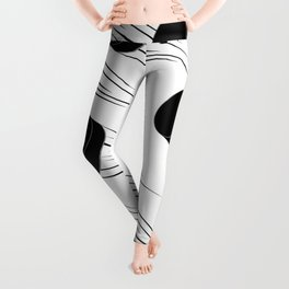 Ice Hockey Puck Leggings