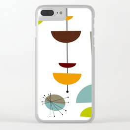 Mid Century 14 Clear iPhone Case