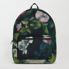 """Paul Cezanne """"Still Life with Flowers and Fruit"""" Backpack"""
