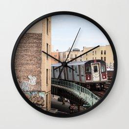 Incoming 2 Train Wall Clock