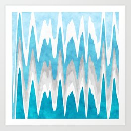 Sky Blue Abstract Art Print
