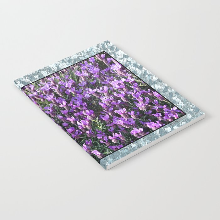 SPANISH LAVENDER AND ONE BEE Notebook