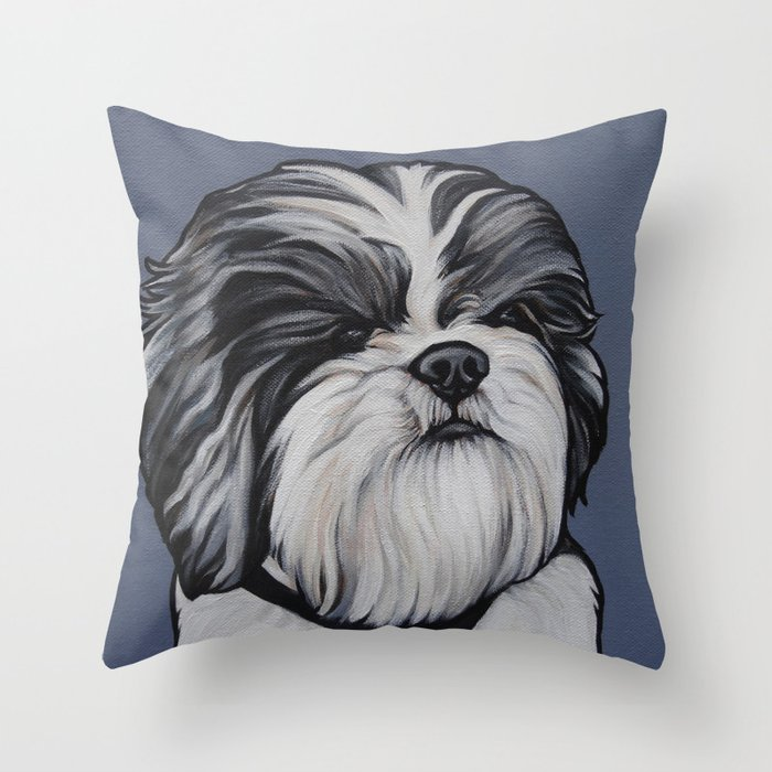 Products For Herbie The Shih Tzu Throw Pillow By Cheneybell Society6