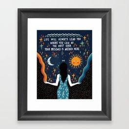 Do the most good Framed Art Print