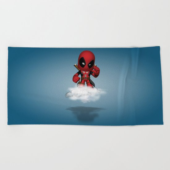 I'm Diedpool Flying Beach Towel