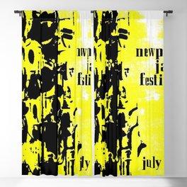 1965 Newport Jazz Festival Vintage Advertisement Poster Newport, Rhode Island Blackout Curtain