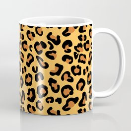Leopard-Yellow+Brown+Black Coffee Mug