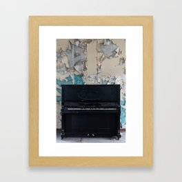 Old and abandoned piano Framed Art Print