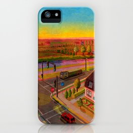 sunset in holland iPhone Case