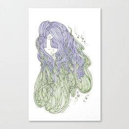 Seaweed Hair Canvas Print
