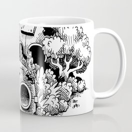 Abandoned Robot Junkyard in the Forest Coffee Mug