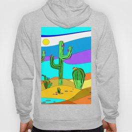Southwest Desert Scene with Cactus and Sun Hoody