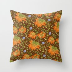 Green bird pattern Throw Pillow