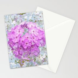 LILAC & WHITE PHLOX FLOWERS Stationery Cards