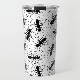 Confetti Ants in Black + White Travel Mug
