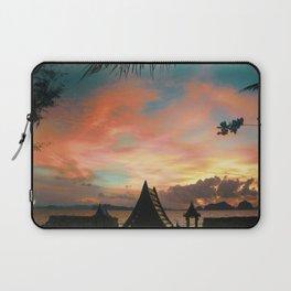 Red Ocean Sunset Laptop Sleeve