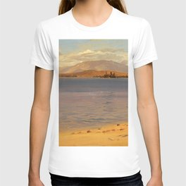 Mount Katahdin from Lake Millinocket - Frederic Edwin Church T-shirt