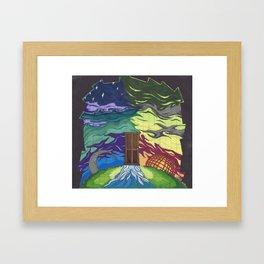 Sun and Moon Framed Art Print