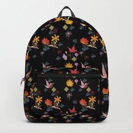 Dark Floral Garden Backpack
