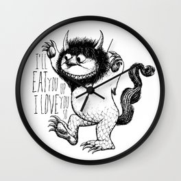 I'll Eat You Up I Love You So Wall Clock