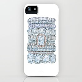 Pink diamonds rings iPhone Case