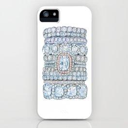 Pink diamonds rings iPhone Case