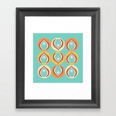 50's floral pattern V Framed Art Print